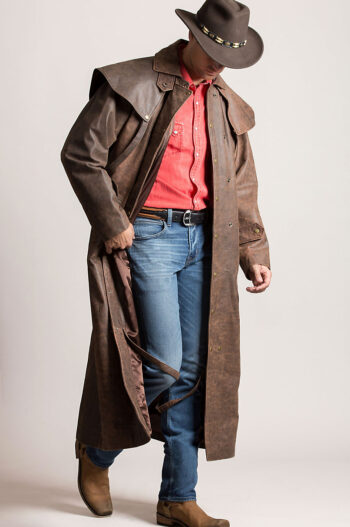 Leather Duster Long Coat